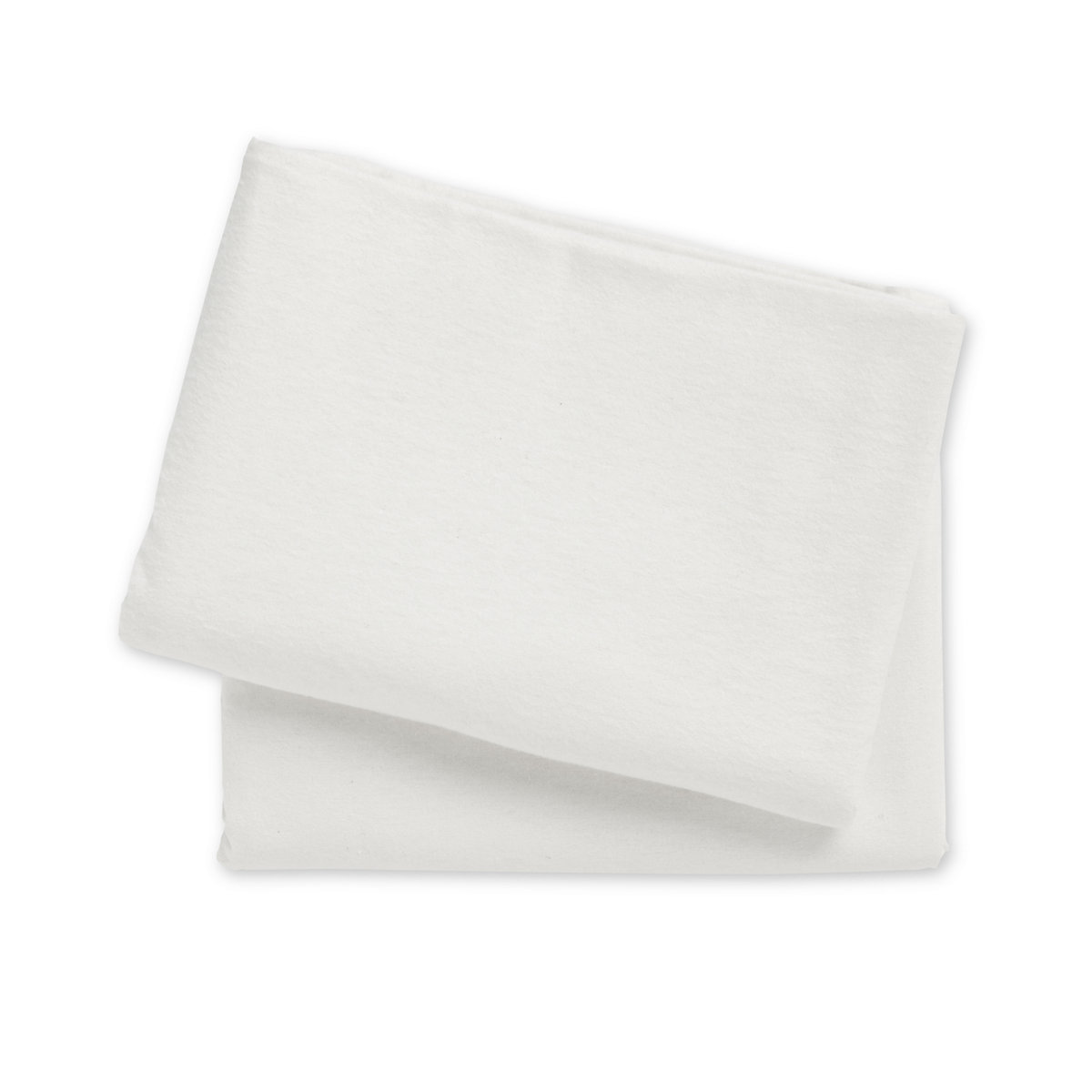 'Mothercare Flannelette Crib Or Moses Basket Flat Sheets - 2 Pack White