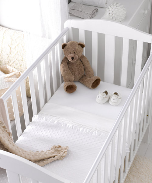 Mothercare Jersey Fitted Cot Bed Sheets- 2 Pack White