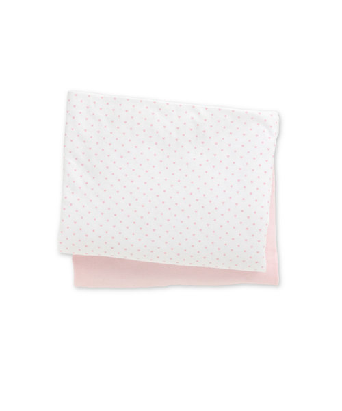 Mothercare Jersey Fitted Cot Bed Sheets - 2 Pack Pink