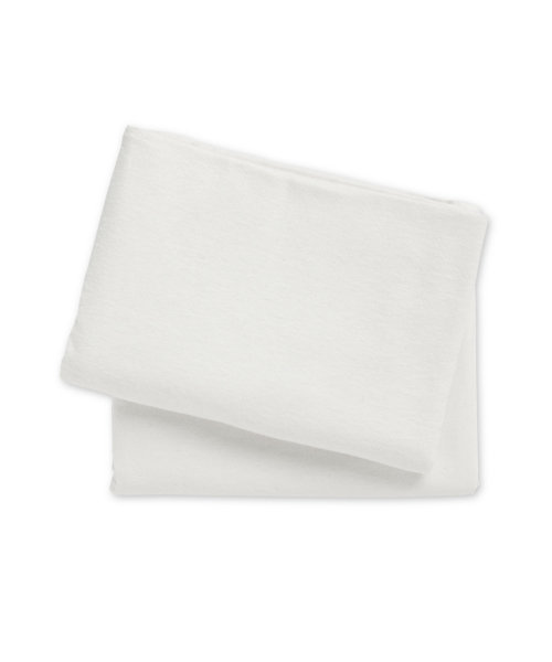 Mothercare Flanelette Cot or Cot Bed Flat Sheets- 2 Pack White
