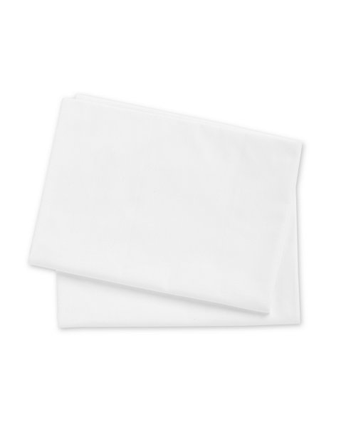 Mothercare Cotton Cot or Cot Bed Flat Sheets- 2 Pack White