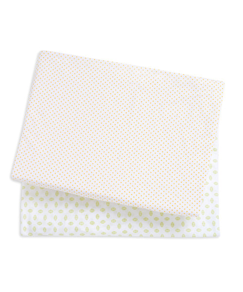 Mothercare Snoozie Safari Jersey Fitted Cot Sheets- 2 Pack