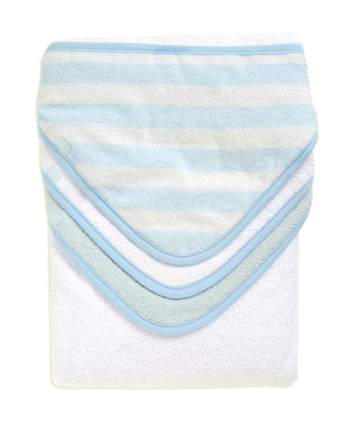 Mothercare Blue Cuddle 'N' Dry Hooded Towels - 3 Pack