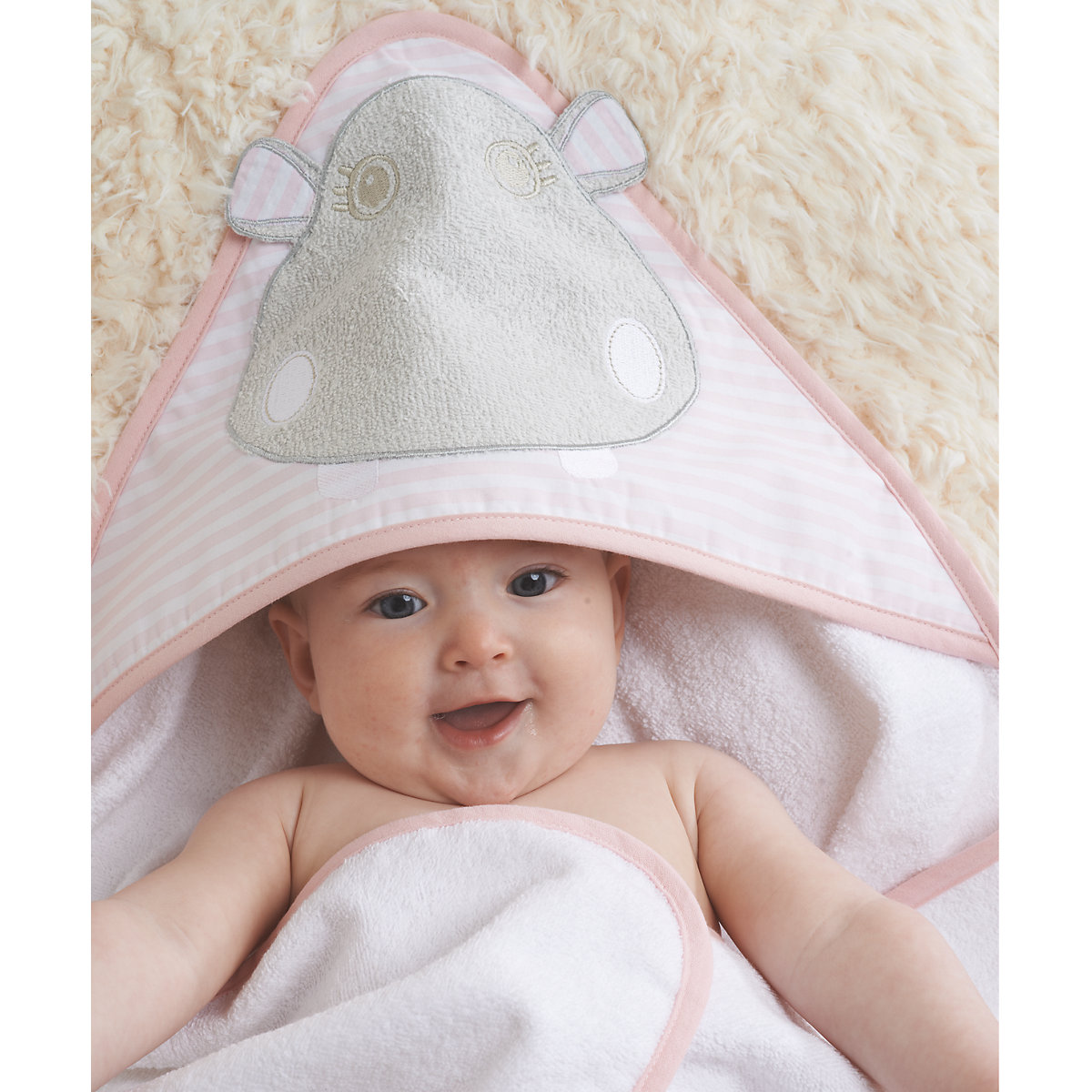 Mothercare Hippo Cuddle 'n' Dry Hooded Towel - Hippo Gifts