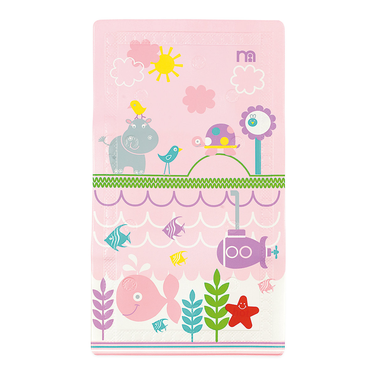 mothercare baby girls under the sea theme non slip bath mat pink ebay. Black Bedroom Furniture Sets. Home Design Ideas