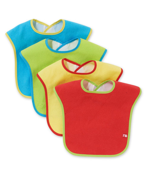 Mothercare Towelling Bibs- 4 Pack