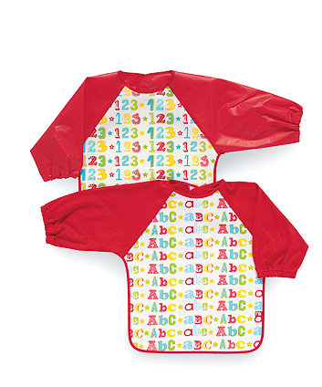 Mothercare 123 and ABC Coveralls- 2 Pack