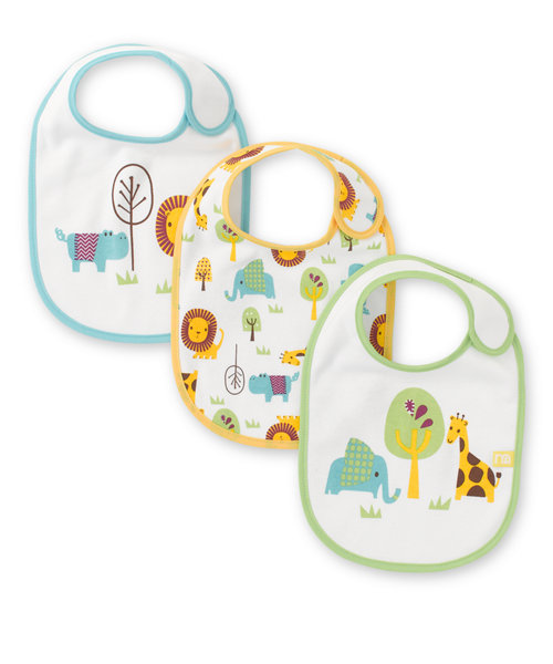 Mothercare Jungle Bibs - 3 Pack