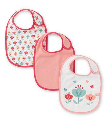 Mothercare Tulip Bibs- 3 Pack