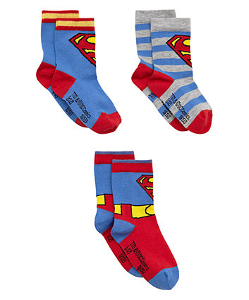 Superman Socks 3 Pack - Superman Gifts
