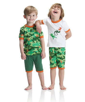 Mothercare Lizard Camouflage Shortie Pyjamas - 2 Pack