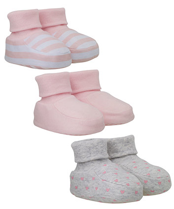 Mothercare Socktop Baby Booties 3 pack