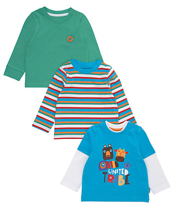 Mothercare Long Sleeved T-Shirts - 3 Pack