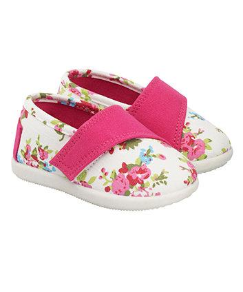 Mothercare Floral Canvas Shoes