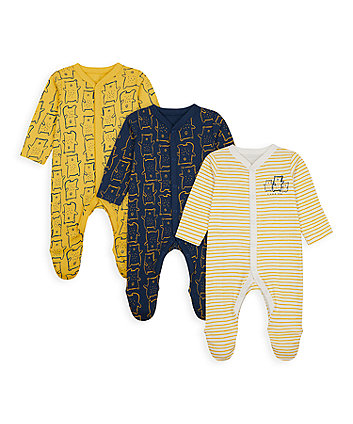 Mummy And Daddy Bear Sleepsuits - 3 Pack [SS21]