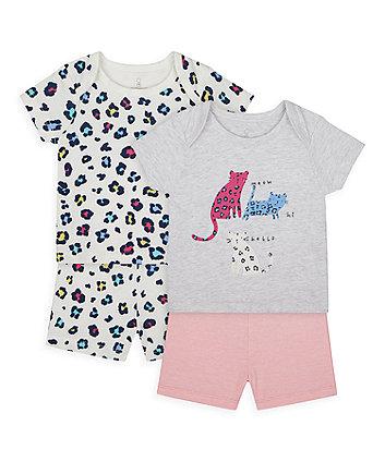 Little Leopard Shortie Pyjamas - 2 Pack [SS21]