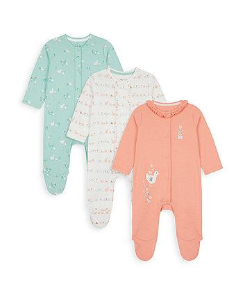 Little Duck Sleepsuits - 3 Pack [SS21]