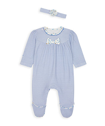 Blue Bow All In One And Headband Set [SS21]