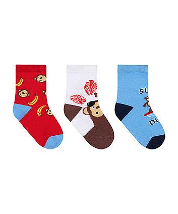 Surf Dude Socks - 3 Pack [SS21]