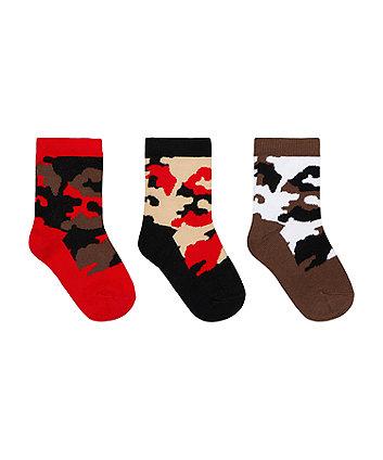 Khaki Camouflage Socks - 3 Pack [SS21]