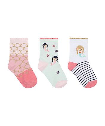 Mermaid Glitter Socks - 3 Pack [SS21]