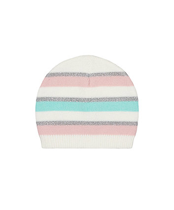 Mint Stripe Knitted Magic Beanie Hat [SS21]