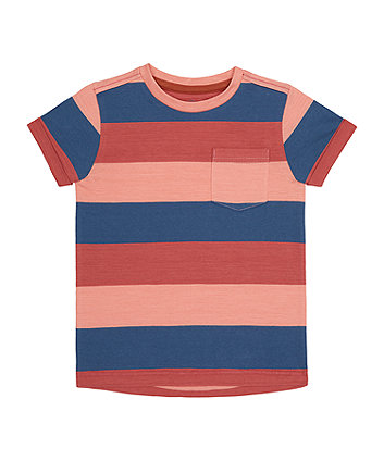 Pink And Blue Striped T-Shirt [SS21]