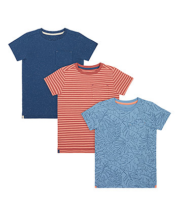 Palm, Stripe And Blue T-Shirts - 3 Pack [SS21]
