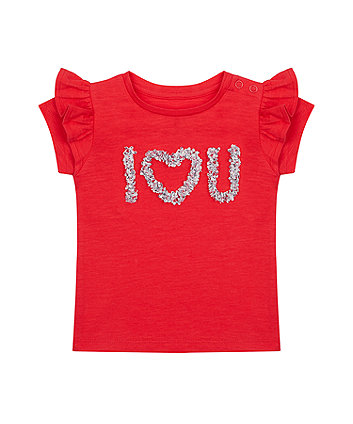 Red I Love You T-Shirt [SS21]