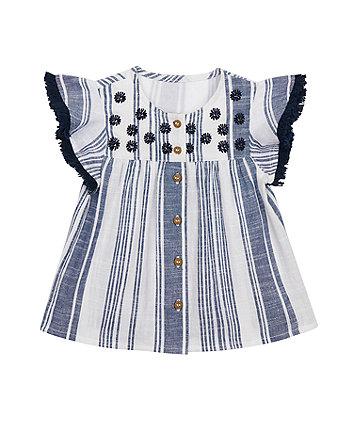 Striped Woven Blouse [SS21]