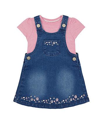 Denim Pinny Dress And T-Shirt Set [SS21]