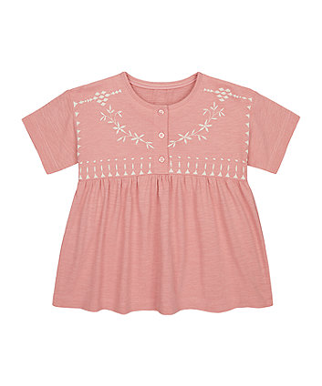 Pink Embroidered T-Shirt [SS21]