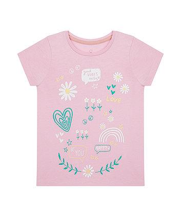 Pink Flower Power T-Shirt [SS21]