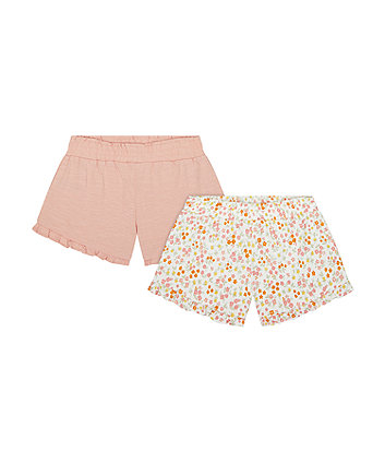 Pink And Floral Shorts - 2 Pack [SS21]