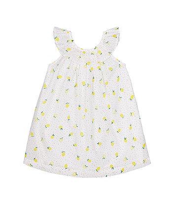 Lemon-Print Frill Dress [SS21]