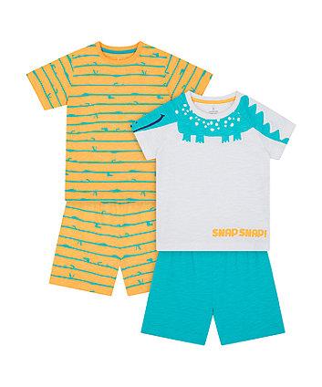 Crocodile Shortie Pyjamas - 2 Pack [SS21]