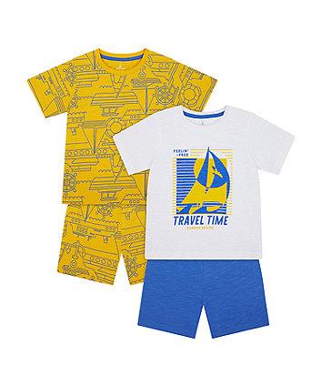 Travel Time Shortie Pyjamas - 2 Pack [SS21]