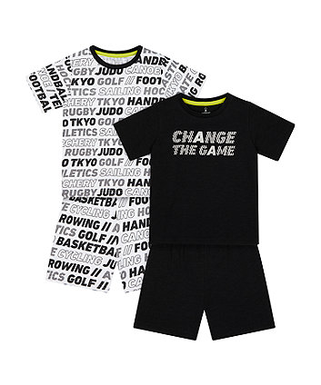 Change The Game Shortie Pyjamas - 2 Pack [SS21]