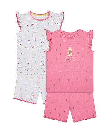 Pineapple Dreaming Shortie Pyjamas - 2 Pack [SS21]