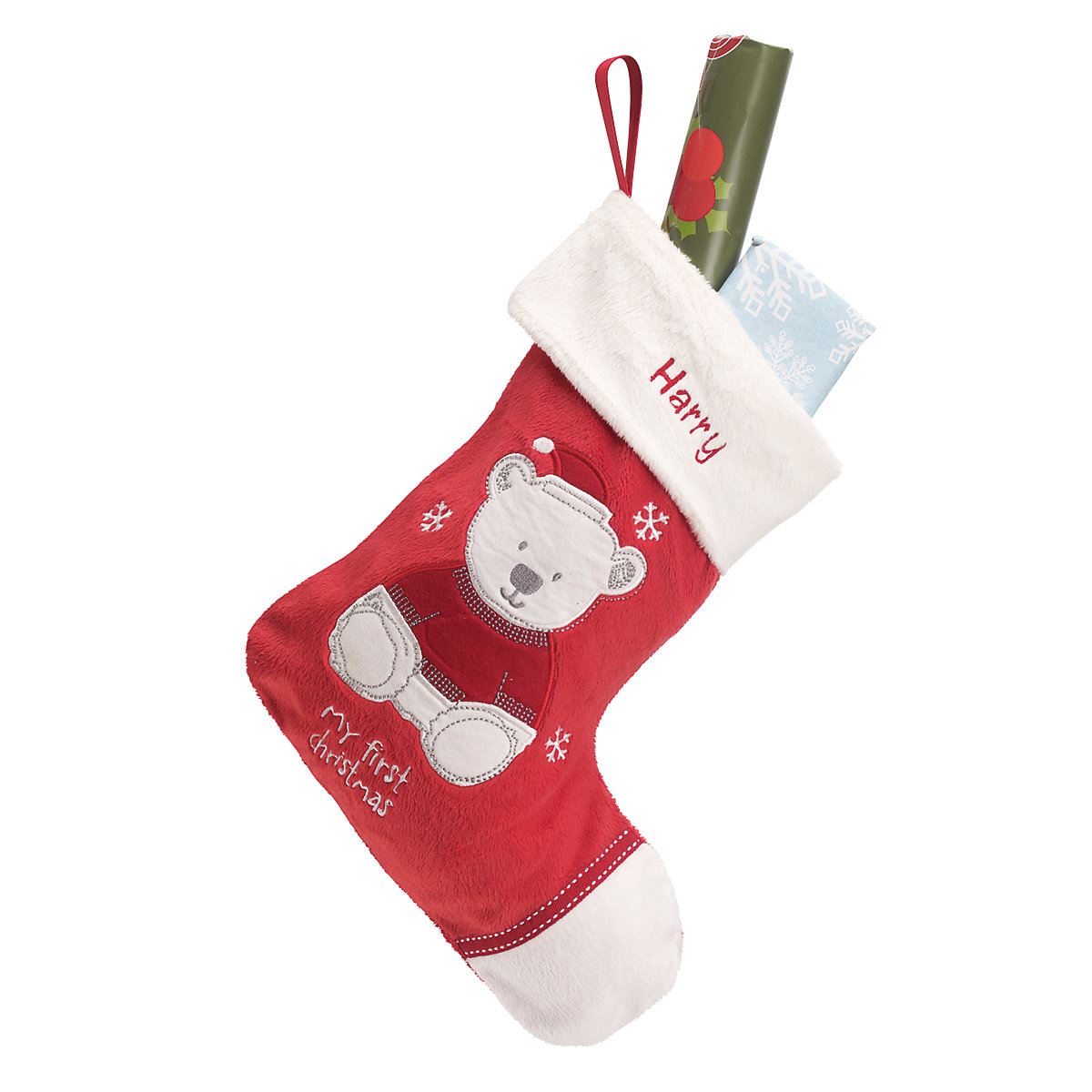 'Mothercare My First Christmas Personalised Teddy Stocking