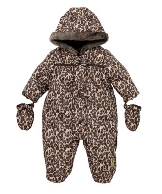 Infant girl's Michael Kors leopard print pink snowsuit hood size M new NWOT See more like this Juicy Couture Baby Infant SnowSuit 6/9 Month Leopard Cheetah Fleece Bunting Brand New.