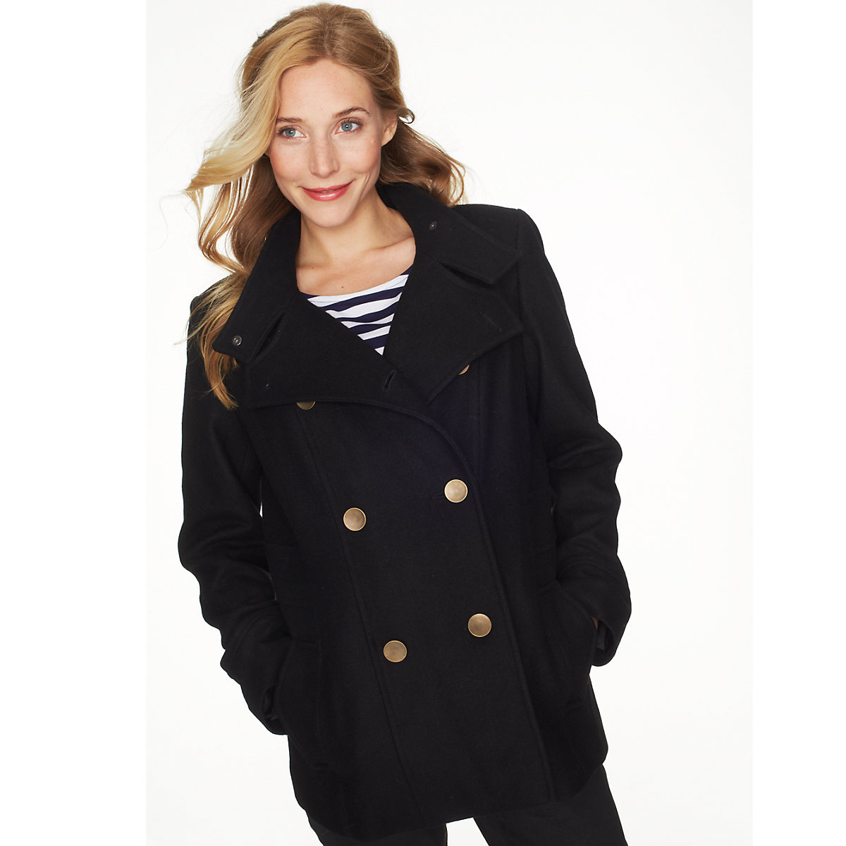 Blooming Marvellous Maternity Black Reefer Coat