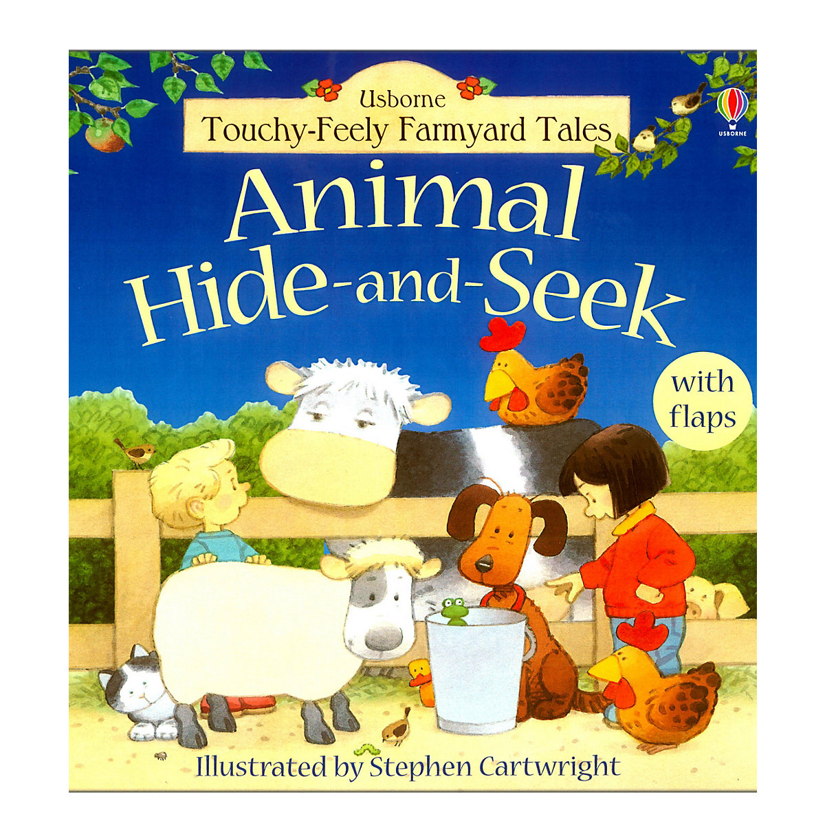 New ELC Boys and Girls Usborne Animal Hide and Seek Book Toy From 2 years - Early Learning Centre Gifts
