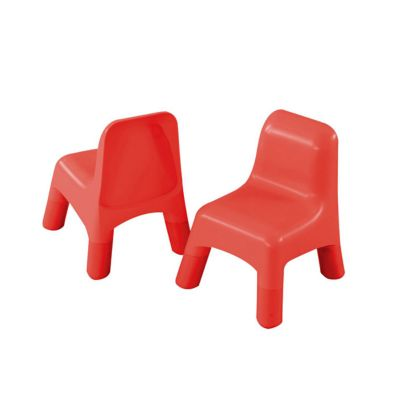 2 Plastic Chairs - Red
