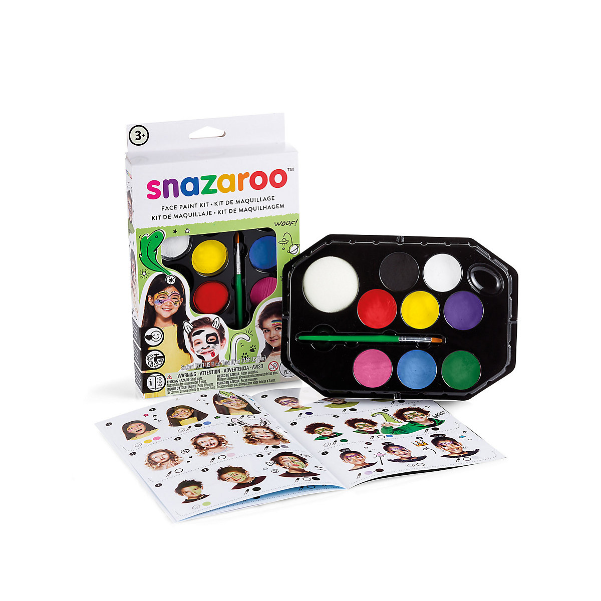 New ELC Boys and Girls Snazaroo Bright Face Painting Kit Toy From 3 years - Painting Gifts