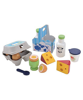 Wooden Dairy and Eggs Set