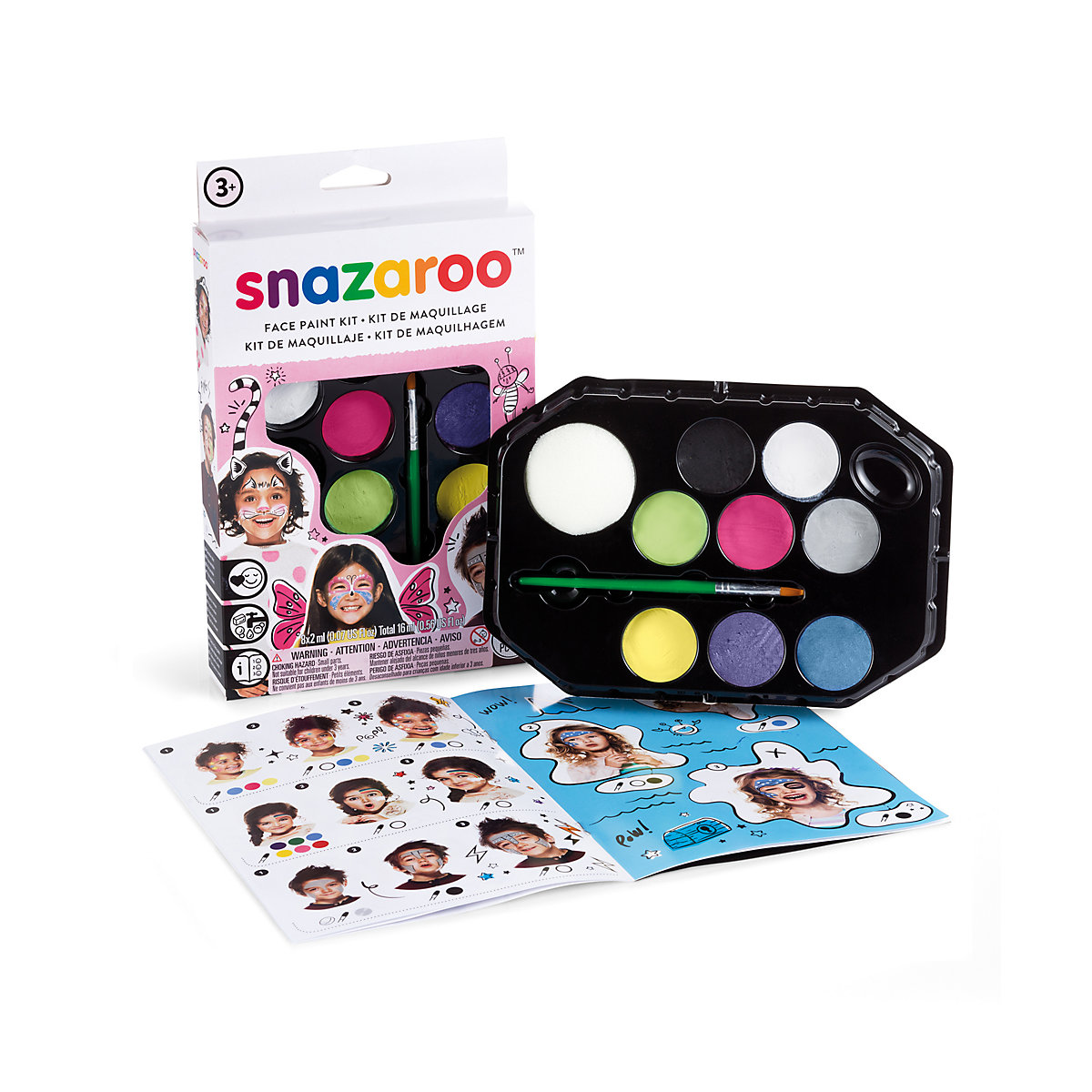 Snazaroo Pastel Face Painting Kit Toy From 3 years