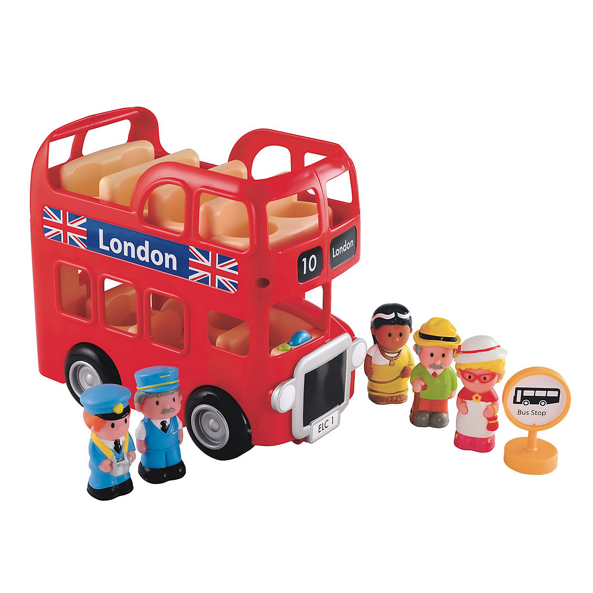 New HappyLand Boys and Girls London Bus Set Toy From 18 months - Toddler Gifts