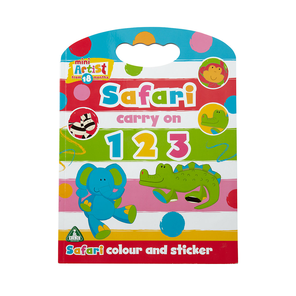 New ELC Mini Artist Boys Girls 123 Colour Sticker Activity Book Toy 18 months - Artist Gifts