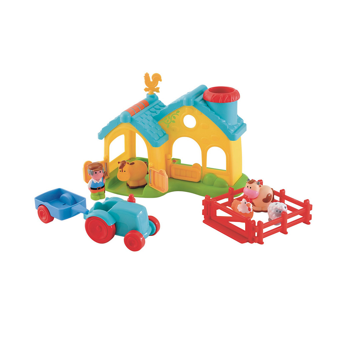 New HappyLand Boys and Girls Farm Playset Toy From 18 months - Farm Gifts